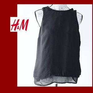 H&M Black Sheer Blouse